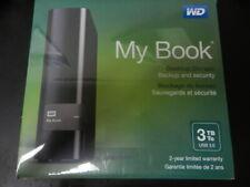 New WD Western Digital My Book 3TB 3 TB External Hard Drive WDBFJK0030HBK-NESN