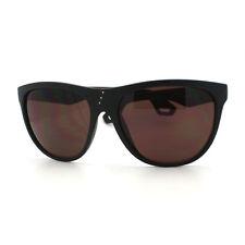 Womens Oversized Sunglasses Overlap Button Design Shades MATTE BLACK, Brown