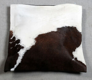 NEW COW HIDE LEATHER CUSHION COVER RUG COW SKIN Cushion Pillow Covers C-6804