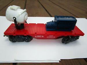 MARX ATOMIC LIGHT GENERATOR FLAT CAR FROM CAPE CANAVERAL TRAIN SET VERY NICE