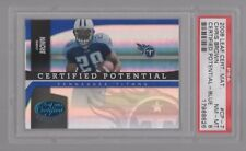 2006 LEAF CERTIFIED MATS CERTIFIED POTENTIAL BLUE #7 CHRIS BROWN  /100 – PSA 8