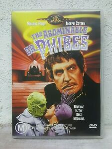 Abominable Dr Phibes DVD Vincent Price 1971 Horror Movie Rare OOP