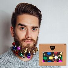 Beards n Bobs Beard Christmas Baubles & Mini Grips Gift Fancy Dress (12 Pack)