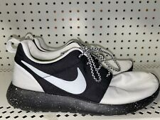 Nike Roshe Run iD Womens Athletic Running Shoes Size 7.5 White Black Speckle