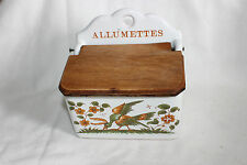 VINTAGE FRENCH CERAMIC MATCH BOX HOLDER -WALL MOUNTING Decor Moustiers