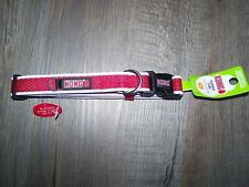 """New KONG DS PADDED COLLAR COMFORT REFLECTIVE DOG SIZE M 14''-20"""" RED"""