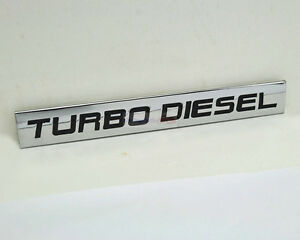 METAL TURBO DIESEL TRUNK CAR BUMPER FENDER DECAL EMBLEM  BADGE STICKER Chevrolet