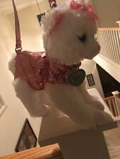 Cat Purse Pink Sequins Kitty Shiny Strap Leash Poochie & Co Girls Bling Pet Zip