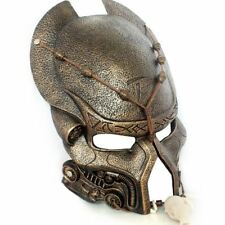 Gold Predator AVP Mask & Necklace Resin Cosplay Wearable Wall Mount