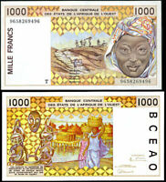 WEST AFRICAN STATE TOGO 1000 1,000 FRANCS 1996 P 811 T UNC
