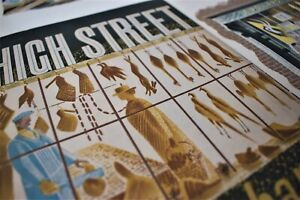 Original 1930s ERIC RAVILIOUS HIGH STREET FRONT & BACK COVERS Curwen Press