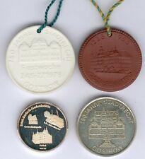 DDR-Medaille, 4 Medaillen Güstrow dabei Porzelan 725 Jahre, vz/st