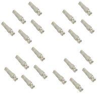 Lot de 20 ampoules T5 12V à LED blanches pour tableau de bord auto voiture