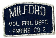 RARE Milford Connecticut Fire Department Patch Company 2