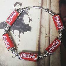 Unique COCA COLA CANS BRACELET handcrafted COKE retro FAB bangle GIFT soda can