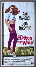 KITTEN WITH A WHIP * CineMasterpieces 3SH ORIGINAL MOVIE POSTER SEXY ANN MARGRET