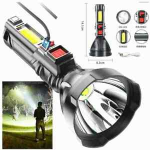 Super Bright 10000000LM Torch Powerful LED Flashlight USB Rechargeable Light .
