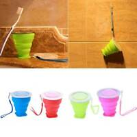 Portable Silicone Telescopic Drinking Collapsible Folding Cup Camping Travel Pop