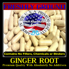 GINGER ROOT With Absolutely No Additives Powder High Potency 100 Veg Capsules
