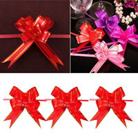 30x Pull Flower Ribbon Bow Gift Wrap Wedding Party Floristry Car Decoration New.