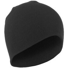 New Mens Army TACTICAL Style Watch Cap Beanie 100% ACRYLIC Knit BLACK