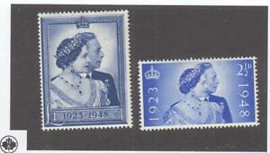 GB # 267-268 VF-MLH KGV1 1948 SILVER WEDDING CAT VALUE $40 (GB1)