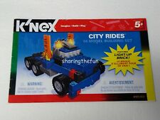 KNEX INSTRUCTION MANUAL ONLY #61021 City Rides 10 Model Building Set Book