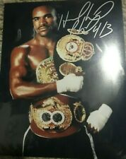 Authentic Evander Holyfield Boxer Signed 8X10 Photo COA