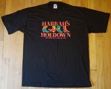 Vintage 1993 Harrah's Hoedown shirt XL black Jerzees cowboy boots casino country