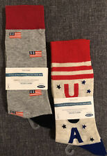 Set of 2 OLD NAVY USA Flag Patriotic CREW SOCKS Size 8-12