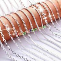 """16 """"/ 18"""" donne collana a catena in argento 9 stili di moda"""