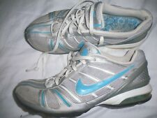 *NIKE* Max Air SHOES Sneakers Sport Athletic Run Gray/Silver Blue Women Sz 8