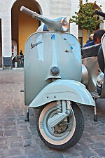 STUNNING VINTAGE ITALIAN SCOOTER CANVAS #833 MODS VESPA WALL HANGING PICTURE