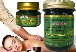 Thai Massage Balm Green Herbal Aroma of Essential Oil, Muscle Pain Relief