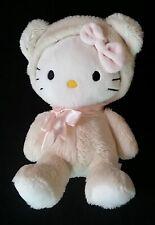 Doudou Chat Hello Kitty déguisé en ours beige noeud rose SANRIO H&M D-289