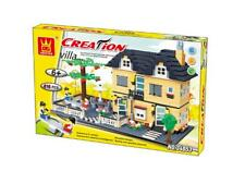 Wange Creation-Villa House With Playground Building Set Lego Compatible Bricks