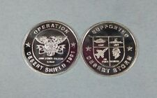 1991 OPERATION DESERT SHIELD / DESERT STORM 1/4 OZ PURE SILVER ROUND