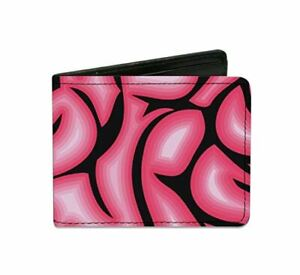 Brains Black and Pink Design Artwork Durable Buckle Down Bi-fold Wallet New Gift