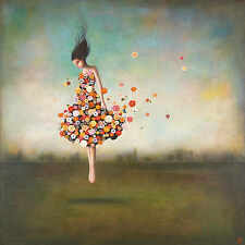 Duy Huynh Boundlessness in Bloom Fantasy Flowers Figurative Canvas 16x16