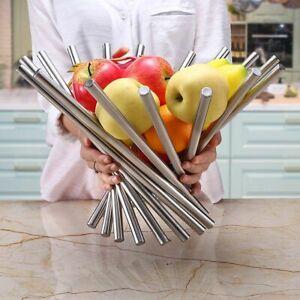 Stainless Steel Fruit Basket Storage Creative Tableware Countertop Decorative