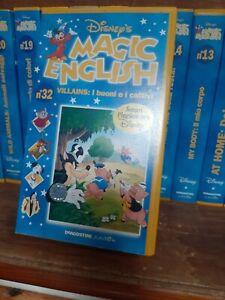 """VHS serie """"MAGIC ENGLISH"""" Disney dalla 1 alla 32"""