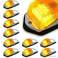 10 pcs Amber Chrome 31 LED Cab Marker Lights for Peterbilt Kenworth Freightliner