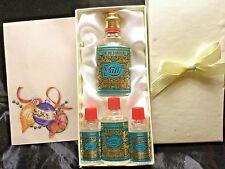 Vtg 4711 Cologne Wasser Lot 4 Miniature Bottles Germany Fresh Full New Gift Boxd