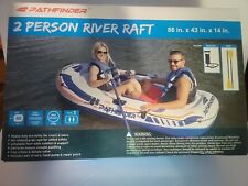 NEW Pathfinder Two (2) Person Inflatable Raft w/Hand Pump & 2 Oars 43 x 86