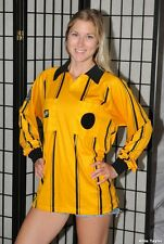 Soccer Referee Long Sleeve Jersey Shirt - Yellow Gold - Official Sports - Small
