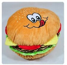 lovely Cartoon hamburger plush toys pillow big hamburger cushion about 45cm