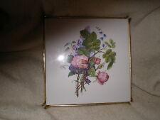 Mettlach Tile Trivet, Vintage Floral,Germany