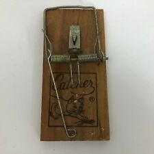 New listing Vintage Catcher Brand Wood Rat Trap Mouse Graphics Collectible C9