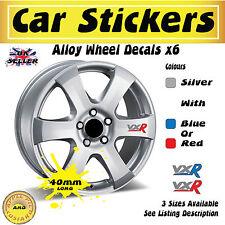 Vauxhall VXR 6x Alloy Wheel Stickers Decals 40mm x 19mm Free UK Postage