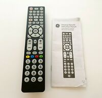 GE Universal Remote Control, Backlit, 8-Device, Big Buttons, Black, 37123
